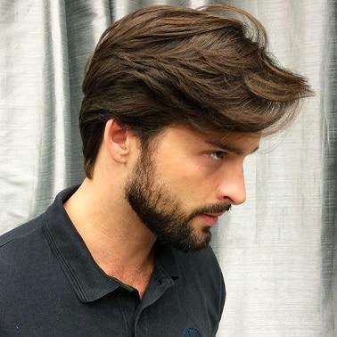 Neutral complexion medium brown hairstyle
