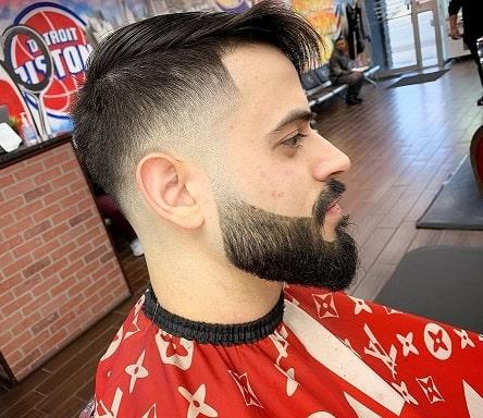 Perfect low bald fade haircut with beard