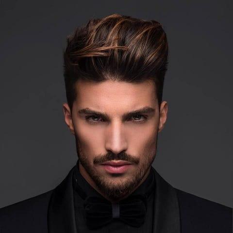 The Copper Brown Dyed Hair Men Haircut