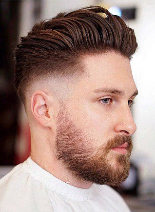 The Slicked Back Short Hairstyle