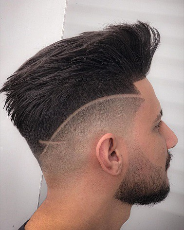 The high- low blend fade haircut