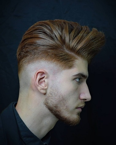The low fade long on the top textured haircut
