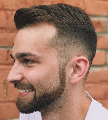 Top Texture Close Cut to Hide your Baldness