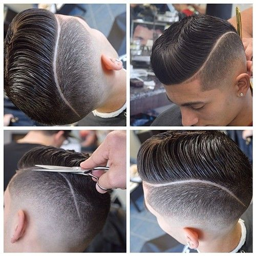 Cool taper with comb over