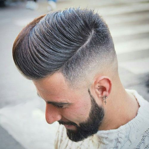Low skin high fade comb over