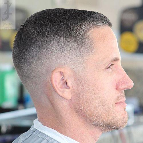 Shirt Hair Side Part Regulation Cut