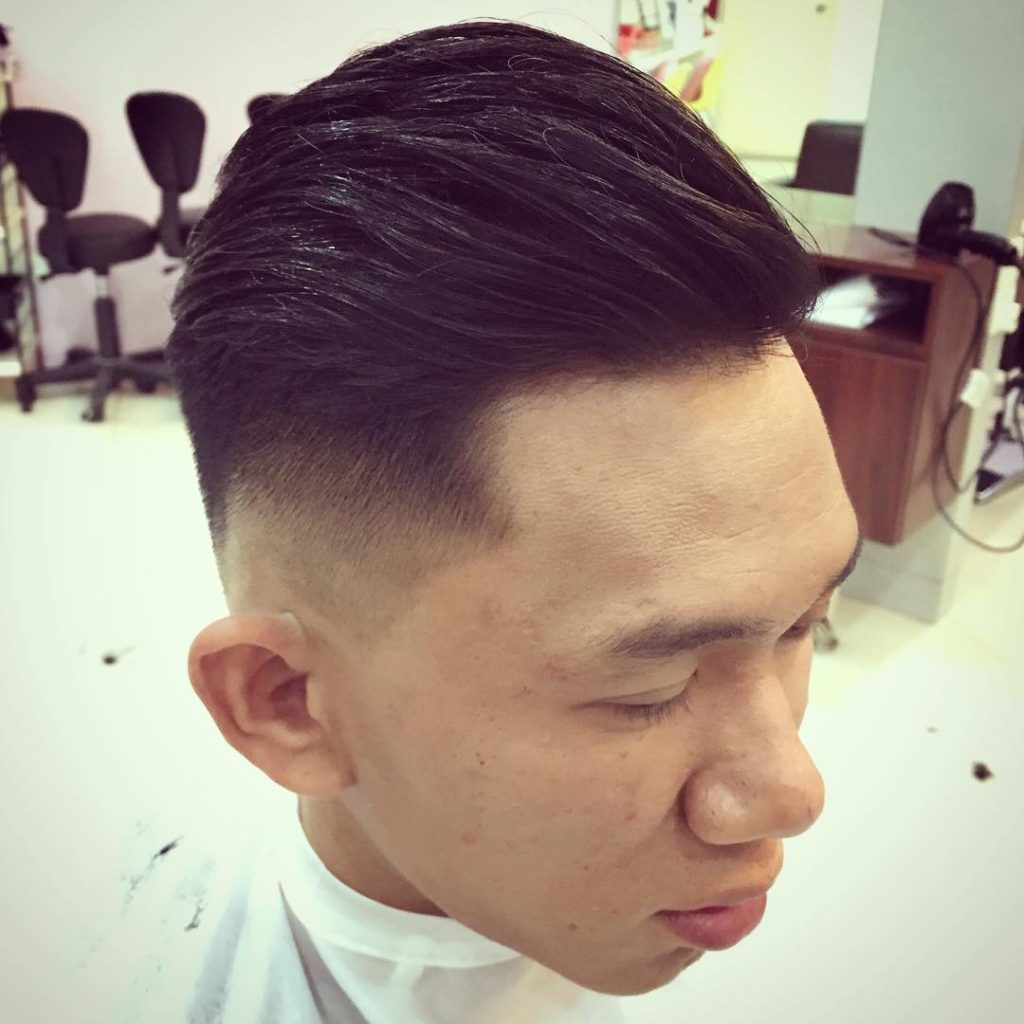 Asian comb over fade: