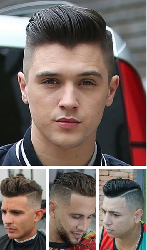 Disconnected Pompadour Fade Haircut