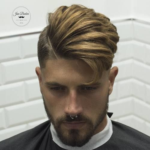 Side Part with Highlights