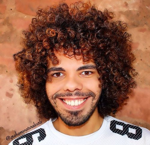 Best 20 Curly Hairstyles For Black Men 1 Curls Highlighted