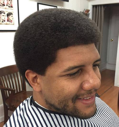Smooth curly Afro Hairstyle