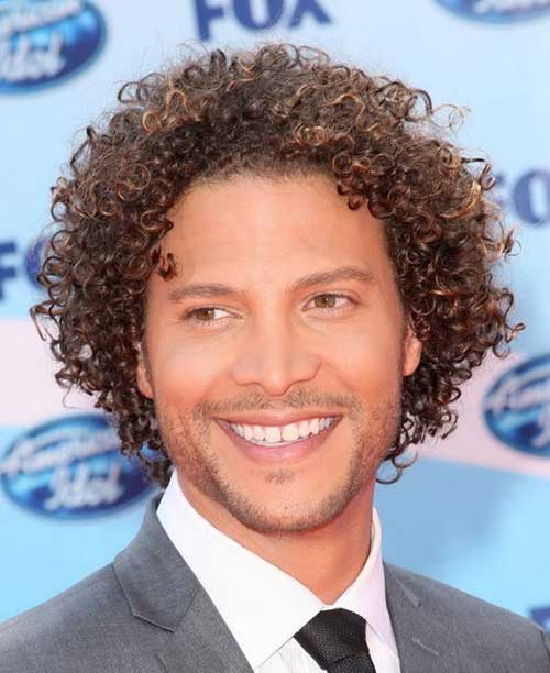 The casual black brown curly hair style