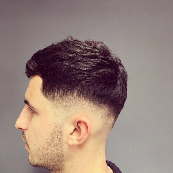 Scissor Caesar haircut