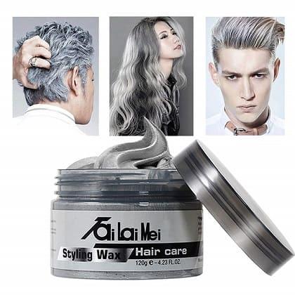 TailaiMei Store Temporary Silver Gray Hair Wax