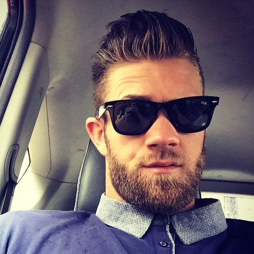 Bryce Harper Slicked back with beard