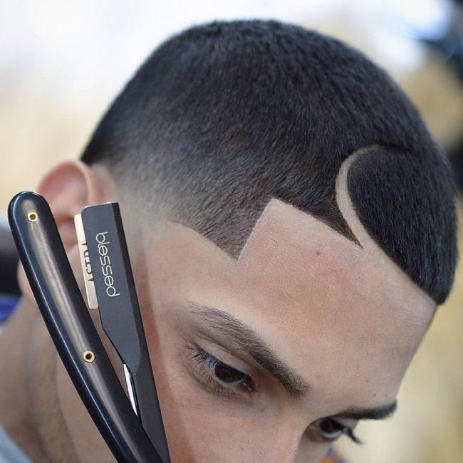 Low Fade Sharp Edge Juice Haircut