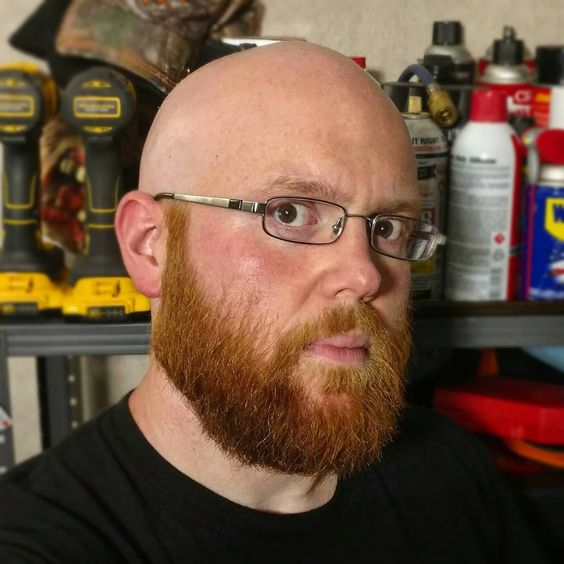 The Sweet Ginger Shaved Head Style