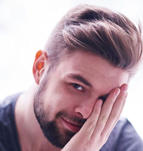 #8: Pushed Back Long Hairstyle With Short Sides