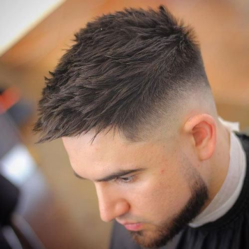Quiff with low skin fade