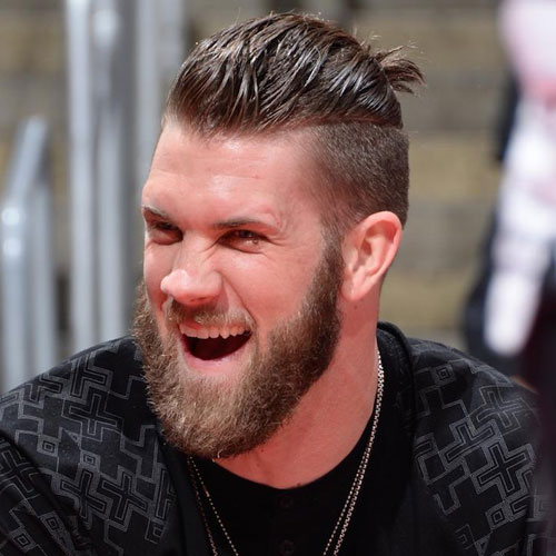 S Back Ponytail Bryce Harper Style