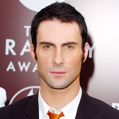 Adam Levine Haircut with Long Sideburns