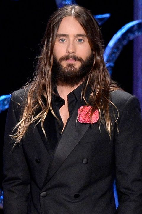 Middle part Jared Leto long hairstyle