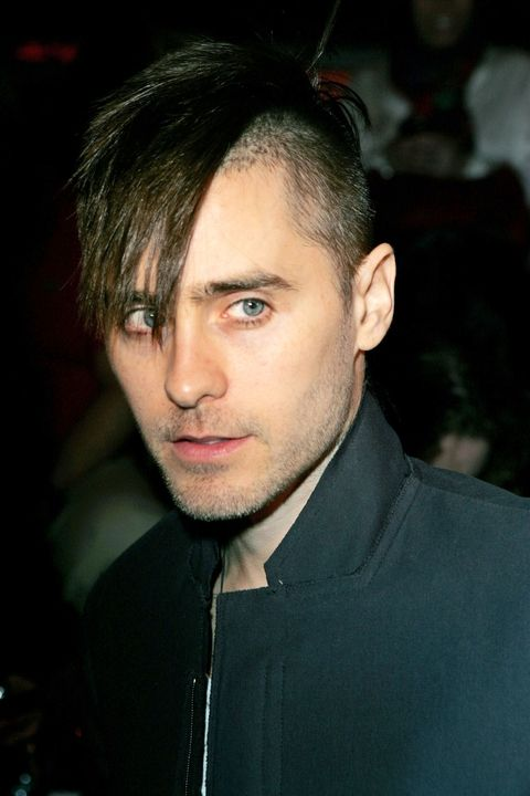 Side swept bangs with undercut Jared hairstyle