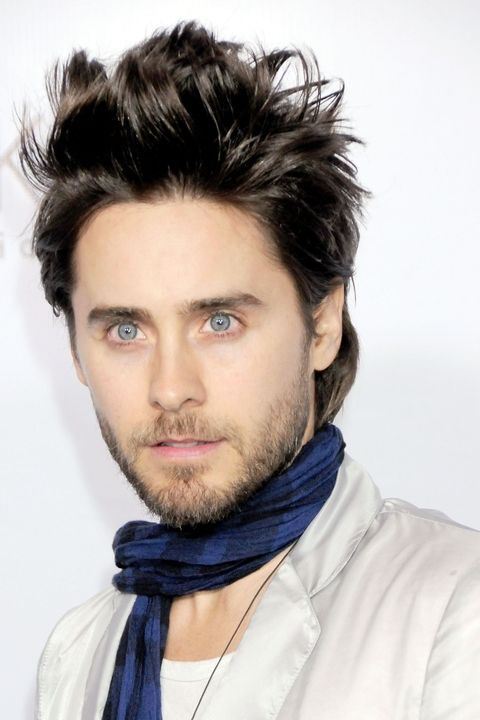 Jared Leto hairstyle with high spikes