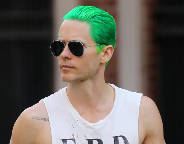 The green hair joker hairstyle