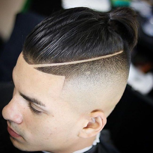 Man Bun Hair Style 5 - High Fade Man Bun