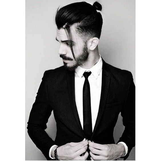 Man Bun Hair Style 6 - Man Bun Taper Cut