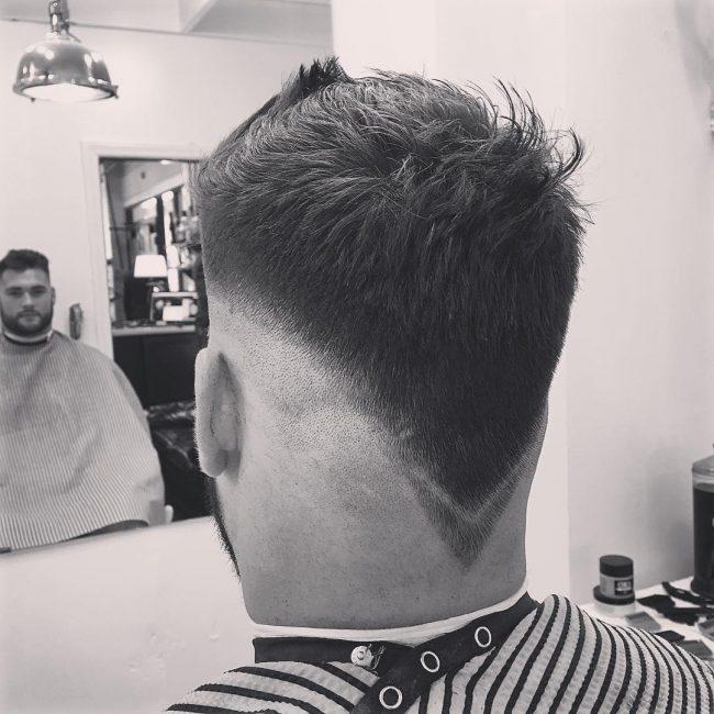 The V Shaped Tousled Taper Haircut
