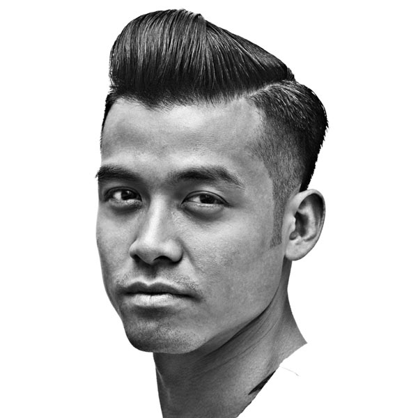 Razor Fade Side Part with Pomp