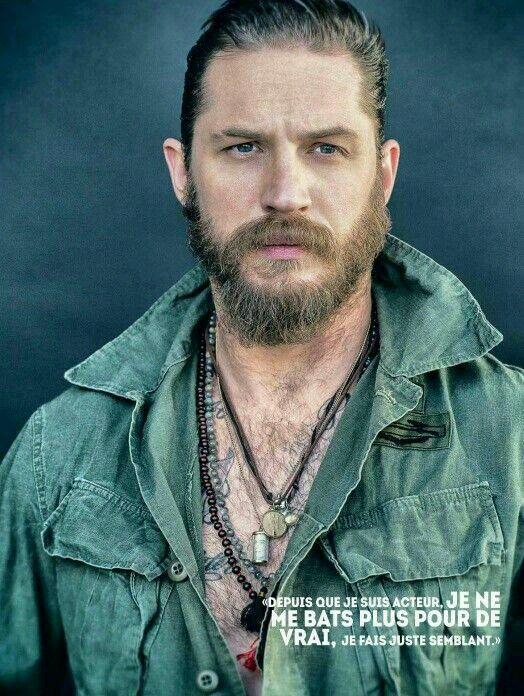 The rebellious Tom Hardy beard style