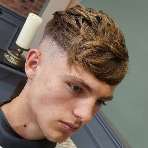 Thick Fringe High Skin Fade Haircut