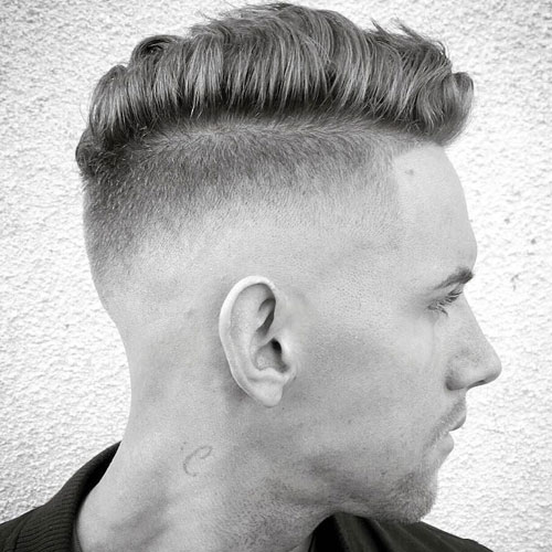 The Combover High Razor Fade Shape Up Hairstyle