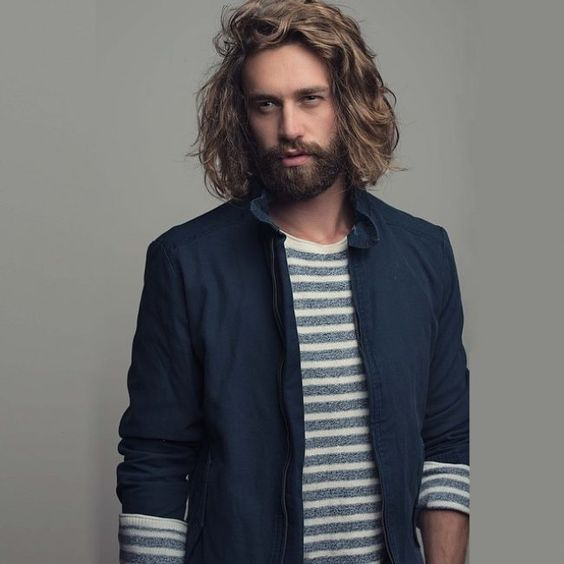 Great volume with beard hairstyle