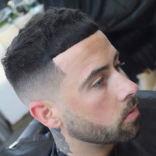 Cropped Top Razor Fade with a Full Beard