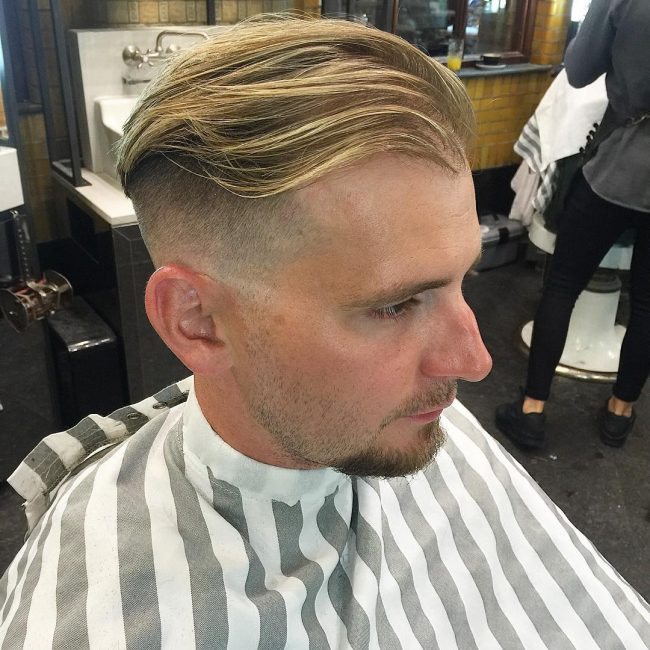 Skin fade blunt cut layered hairstyle