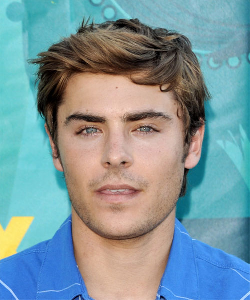 The Casual Short and Straight Zac Efron Hairstyle