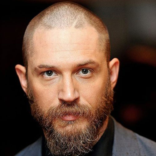 Best Tom Hardys Beard Styles Everything You Need To Know - Facial hair styles bald head