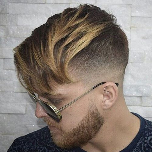 The undercut with fringe hairstyle