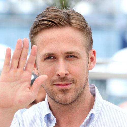Bleached and Undercut Ryan Gosling Haircut