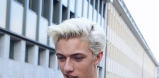 Medium White Hair with a Quiff