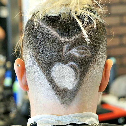 Patterns and a Knot Shaped Hairstyle
