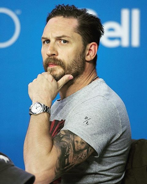Sensual and sculpted Tom Hardy beard style