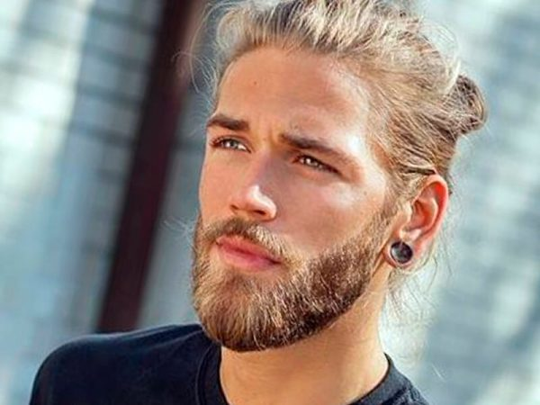 Bleached Hair With Natural Beard