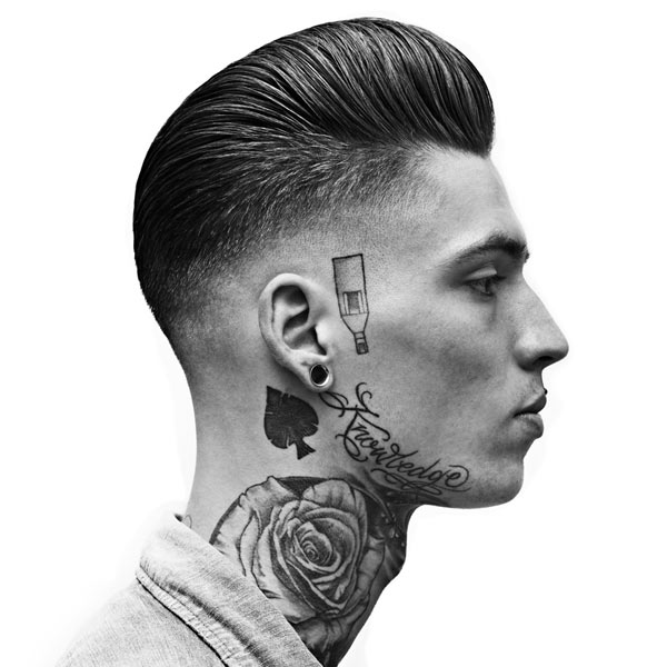 The Slick Back Lower Fade Haircut