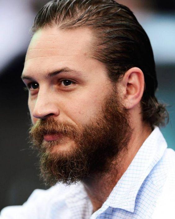 No fuss busy Tom Hardy beard style