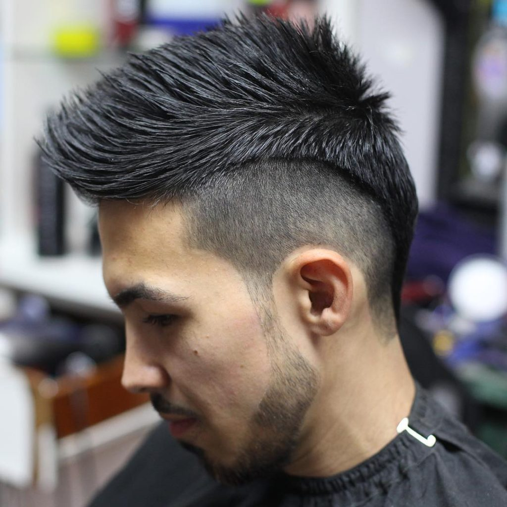 crazy hair styles for guys hairstyles 20 best collections of s 3663 | 6 Shaved Sides Rocker Crop Crazy Hairstyle